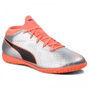 Puma Schuhe One 4 Syn It Jr 104783 01 Silver/Orange/Black 1 [Outlet]