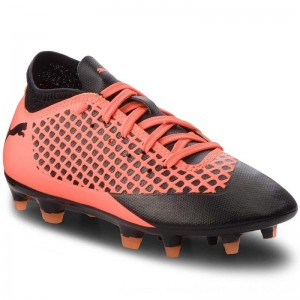 Puma Schuhe Future 2.4 Fg/Ag Jr 104844 02 Black/Orange [Outlet]
