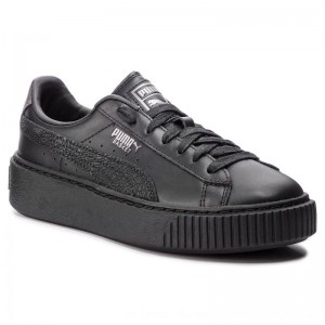 [BLACK FRIDAY] Puma Sneakers Basket Platform Euphoria Metal 367850 02 Black/Puma Aged Silver