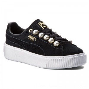 Puma Sneakers Suede Platform Bling Wn's 366688 01 Black/Puma Black [Outlet]