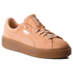 Puma Sneakers Suede Platform Animal 365109 Dusty Coral/Puma Silver [Outlet]