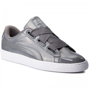 Puma Sneakers Basket Heart Patent Wn's 363073 17 Iron Gate/Iron Gate [Outlet]