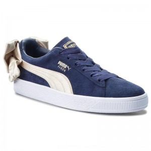 Puma Sneakers Suede Bow Varsity Wn's 367732 02 Peacoat/Metallic Gold [Outlet]