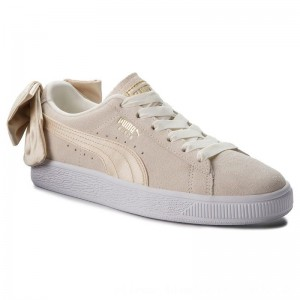 Puma Sneakers Suede Bow Varsity Wn's 367732 03 Marshmallow/Metallic Gold [Outlet]