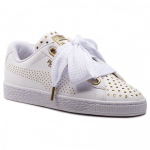 [BLACK FRIDAY] Puma Sneakers Basket Heart Ath Lux Wn's 366728 01 White/Puma White