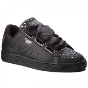 [BLACK FRIDAY] Puma Sneakers Basket Heart Ath Lux Wn's 366728 03 Black/Puma Black