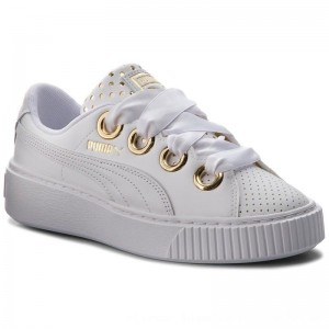 Puma Sneakers Platform Kiss Ath Lux Wn's 366704 01 White/Puma White [Outlet]