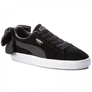 Puma Sneakers Suede Bow Uprising Wn's 367455 01 Black/Puma White [Outlet]