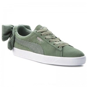 [BLACK FRIDAY] Puma Sneakers Suede Bow Uprising Wn's 367455 02 Laurel Wreath/Puma White
