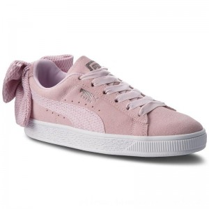Puma Sneakers Suede Bow Uprising Wn's 367455 03 Winsome Orchid/Puma White [Outlet]