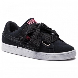 Puma Sneakers Suede Heart Street 2 Wn's 366780 01 Black/Puma Black [Outlet]