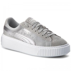 Puma Sneakers Suede Platform Safari 364594 02 Quarry/Quarry [Outlet]
