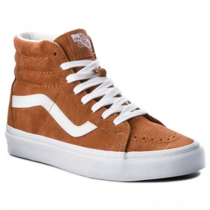 Vans Sneakers Sk8-Hi Reissue VN0A2XSBU5K (Pig Suede) Leather Brown