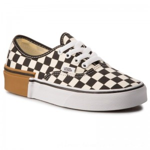Vans Turnschuhe Authentic VN0A38EMU58 (Gum Block) Checkerboard [Outlet]