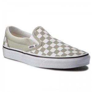 Vans Turnschuhe Classic Slip-On VN0A38F7U79 (Checkboard) Desert Sag [Outlet]