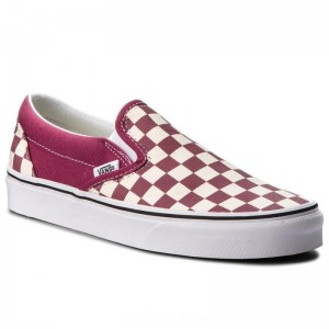 Vans Turnschuhe Classic Slip-On VN0A38F7U7A (Checkerboard) Dry Rose/W [Outlet]