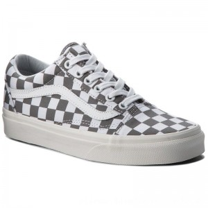 Vans Turnschuhe Old Skool VN0A38G1U53 (Checkerboard) Pewter/Marshmallow [Outlet]