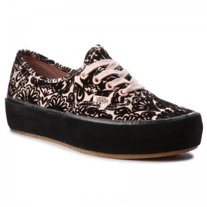 Vans Turnschuhe Authentic Platfor VN0A3AV8U6O1 (Sidewall Wrap) Suede/Ros [Outlet]