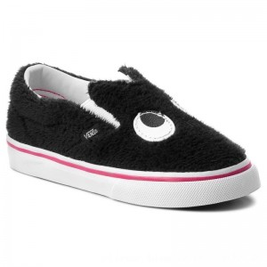 Vans Halbschuhe Slip-On Friend VN0A3TK4U4T (Party Fur) Black/True Wh