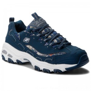 Skechers Sneakers D'lites Floral Days 13082/NVY Navy [Outlet]