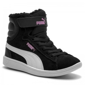 [BLACK FRIDAY] Puma Schnürschuhe Vikky Mid Fur V PS 366854 01 Black/Puma White
