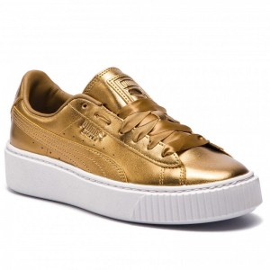 Puma Sneakers Basket Platform Luxe Wn's 366687 02 Ermine/Ermine [Outlet]