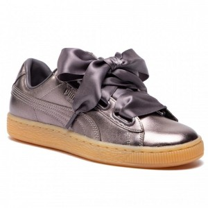 Puma Sneakers Basket Heart Luxe Wn's 366730 01 Quiet Shade/Quiet Shade [Outlet]
