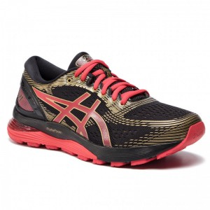 Asics Schuhe Gel-Nimbus 21 1011A257 Black/Classic Red 001