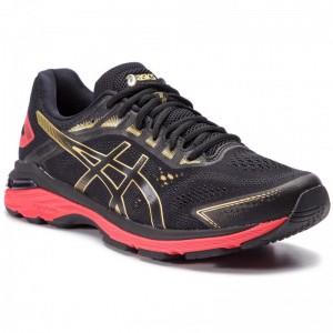 Asics Schuhe GT-2000 7 1011A262 Black/Rich Gold 001 [Sale]