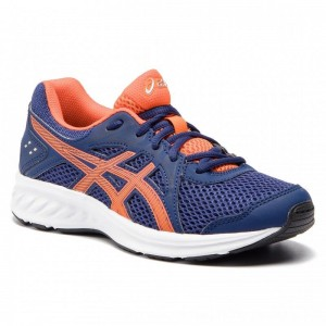 Asics Schuhe Jolt 2 Gs 1014A035 Indigo Blue/Nova Orange 404 [Outlet]