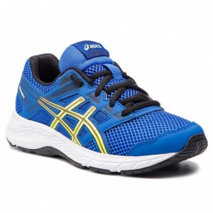 Asics Schuhe Contend 5 Gs 1014A049 Illusion Blue/Lemon Spark 401 [Outlet]