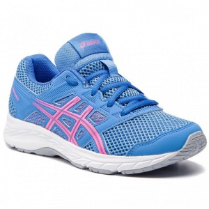 Asics Schuhe Contend 5 Gs 1014A049 Blue Coast/Hot Pink 402 [Outlet]