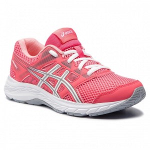 Asics Schuhe Contend 5 Gs 1014A049 Pink Cameo/White 701