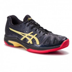 Asics Schuhe Solution Speed FF L.E Clay 1041A055 Black/Rich Gold 001 [Outlet]