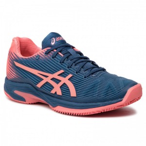 Asics Schuhe Solution Speed Ff Clay 1042A003 Grand Shark/Papaya 410 [Outlet]