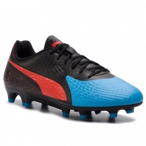 Puma Schuhe One 19.4 Fg/Ag 105492 01 Bleu Azur/Red Blast/Black [Outlet]