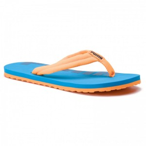 Puma Zehentrenner Epic Flip v2 Jr 360288 16 Orange Pop/Indigo Bunting [Outlet]