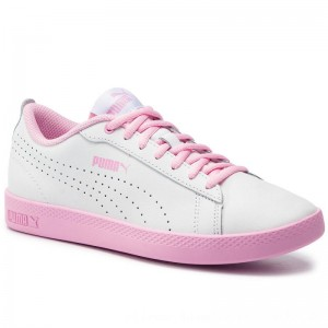 Puma Sneakers Smash Wns V2 L Perf 365216 07 White/Pale Pink [Outlet]