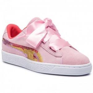 Puma Sneakers Suede Hrt Trailblazer Sqn Jr 368953 01 Pale Pink/Hibiscus [Sale]