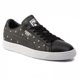 Puma Sneakers Basket Studs Wn's 369298 02 Black/Puma Silver [Outlet]