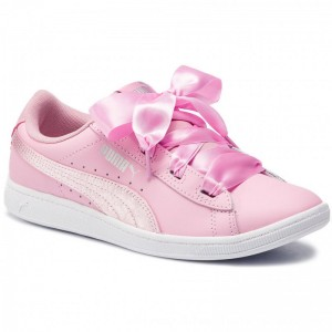 Puma Sneakers Vikky Ribbon L Satin Jr 369542 03 Pale Pink/Pale Pink [Outlet]