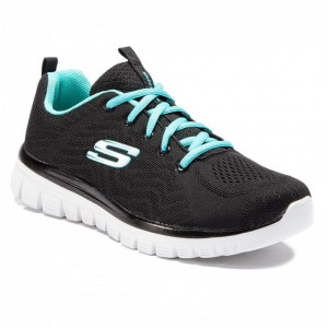 Skechers Schuhe Get Connected 12615/BKTQ Black/Turquoise [Outlet]