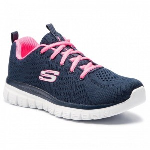 Skechers Schuhe Get Connected 12615/NVHP Navy/Hot Pink [Outlet]