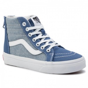 Vans Turnschuhe Sk8-Hi Zip VN0A3276VIO1 (Chambray) Canvas True Na [Outlet]