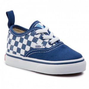 Vans Turnschuhe Authentic Elastic VN0A38E8VDX1 (Checkerboard) True Navy [Outlet]