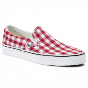 Vans Turnschuhe Classic Slip-On VN0A38F7VDY1 (Gingham) Racing Red/True