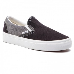 Vans Turnschuhe Classic Slip-On VN0A38F7VJ61 (Chambray) Canvas Black/T