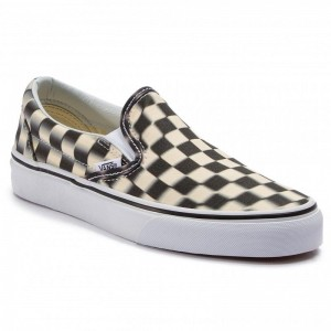 Vans Turnschuhe Classic Slip-On VN0A38F7VJM1 (Blur Check) Black/Classi [Outlet]