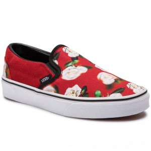 Vans Turnschuhe Classic Slip-On VN0A38F7VMI1 (Romantic Floral) Chili P [Outlet]