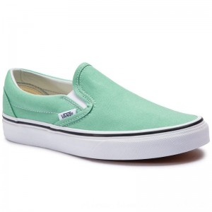 Vans Turnschuhe Classic Slip-On VN0A38F7VMX1 Neptune Green/True White [Outlet]